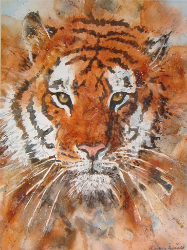 Cool regard - 15 ½ x 11 ½ inches - Watercolour