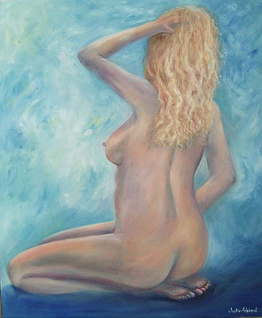 Naked Desire - 23 ½ x 19 ½ inches - Oils on canvas