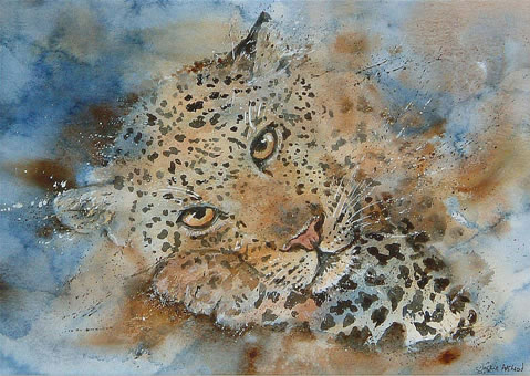 Quintessential cat - 14 x 10 inches - Watercolour