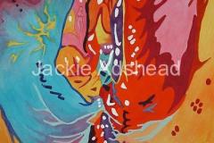 Queynte 18 - 20 x 16 inches Acrylic on board