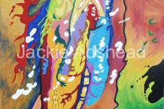Queynte 21 - 20 x 16 inches Acrylic on board