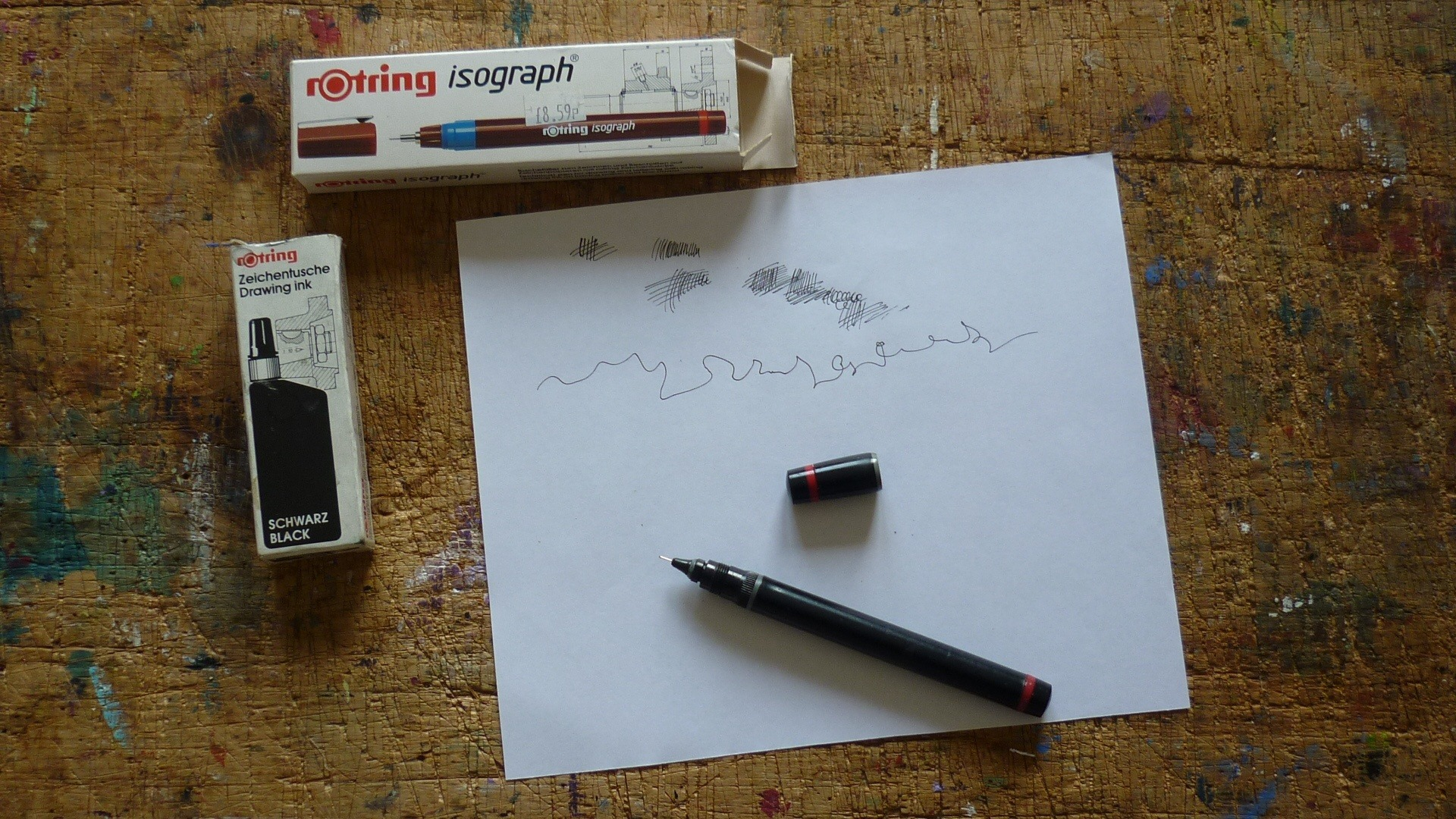 My tips on how to successfully unblock an old technical pen