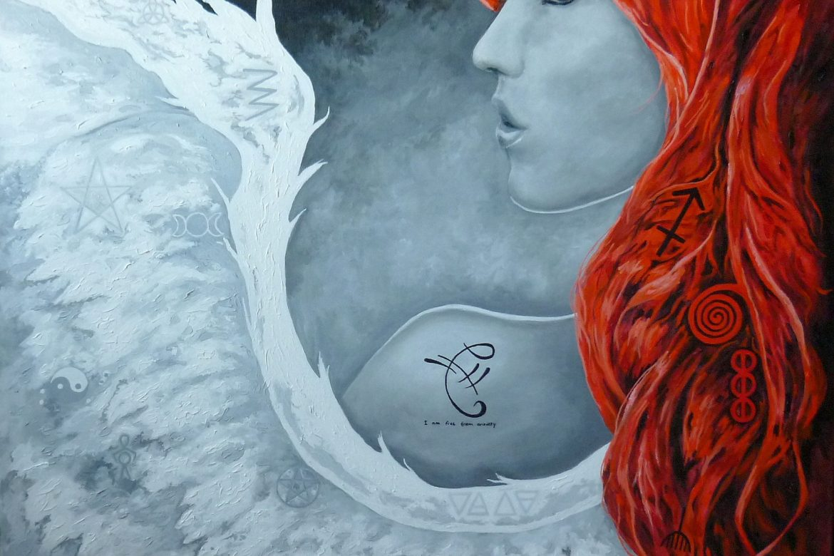 Angel with red hair and pagan symbols keeps the comments coming in