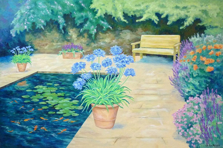 Serene Blues in the fifth Happy Garden