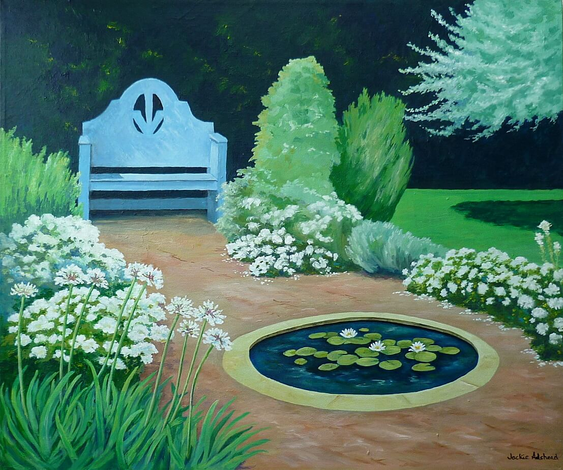 Echoes of peaceful white in the third Happy Garden