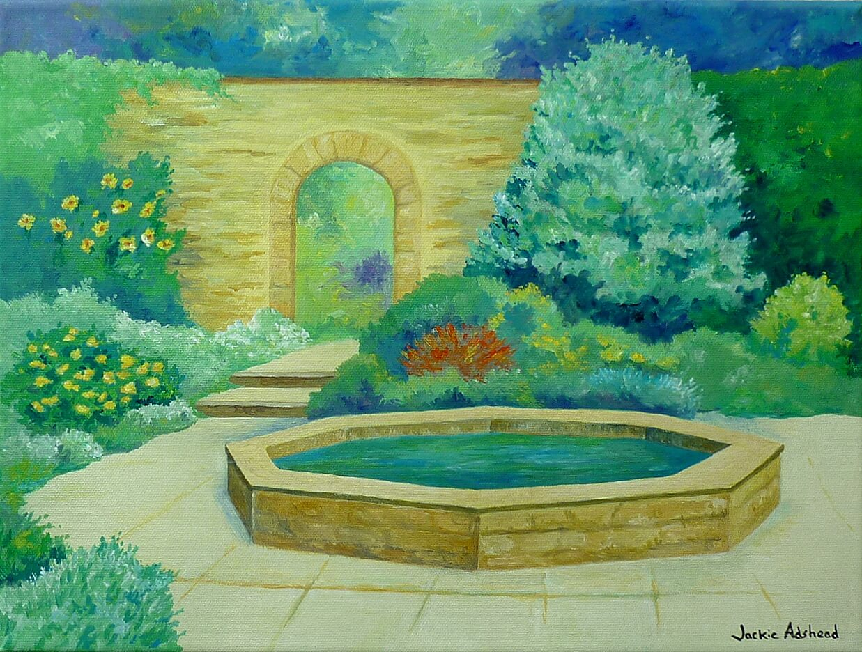 Sixth Happy Garden painting is even more tranquil