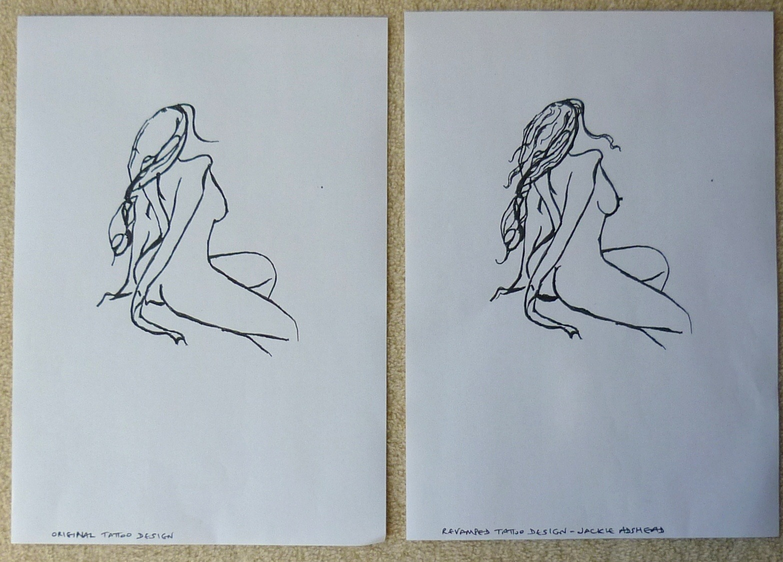 Revamped naked woman